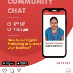 Sheroes app digital marketing community chat