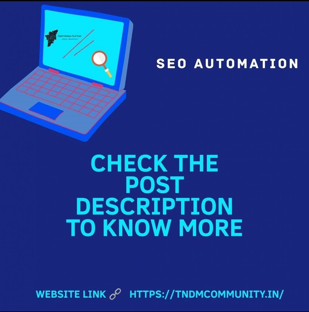 SEO automation Process